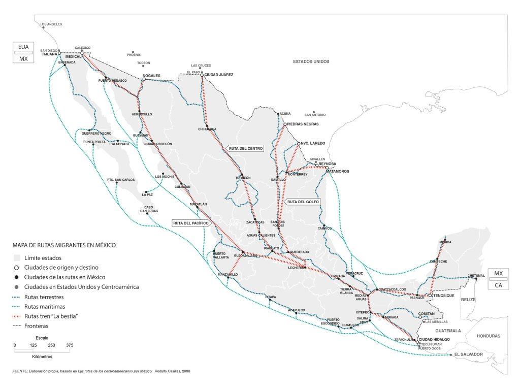 Mapa Ruta del Tren